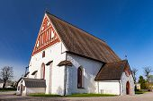 Porvoo Cathedral Facade. It Is A Cathedral Of The Evangelical Lutheran Church Of Finland In Porvoo,  poster