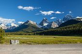 A Dirt Mountain Road In Kananaskis Country In The Canadian Rocky Mountains, Alberta poster
