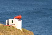 Foghorn on clifftop