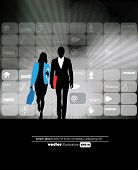 Business people background