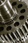 image of duplex  - industrial gears with thin coatings of lubricant oil - JPG