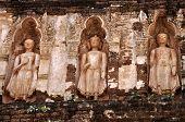 Standing Buddha On Stupa