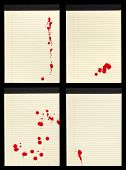 Blood Stained Notepad Sheets