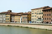 Along River Florence Tuscany Italy