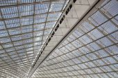 picture of charles de gaulle  - Big modern roof covering Charles de Gaulle airport Paris France - JPG
