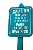 Golf Risk Sign.