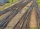 Railroad Tracks. Top View.