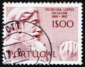 Postage stamp Portugal 1971 Antonio Teixeira Lopes, Portuguese Sculptor