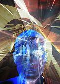 Blue Man Science Fiction