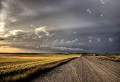 Las nubes de tormenta Saskatchewan