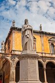 image of alighieri  - Famous Monument of Dante Verona Italy Europe - JPG