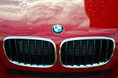 BMW Logo on red
