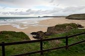 Perranporth beach North Cornwall England UK