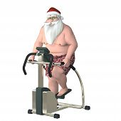 stock photo of humbug  - Santa Fitness  - JPG
