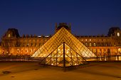 The Louvre Art Museum  in Paris