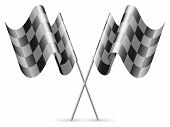 Checkered flags.