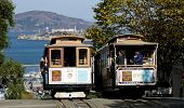 San Francisco November 2012: die Seilbahn tram, 2. November 2012 in San Francisco, Usa. Das san