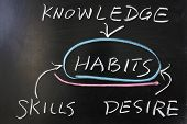 Relationship Between Habits And Knowledge, Skills, Desire