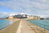 old town of  Saint Malo, Brittany, France