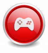 Gamepad red button - design web icon