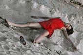 Crime Scene On The Beach