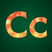 Letter C in the autumn style