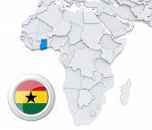 Ghana On Africa Map