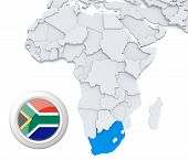 South Africa On Africa Map