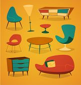 stock photo of household  - Retro styled modern furniture - JPG