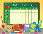 School timetable theme image 3 - eps10 vector illustration.