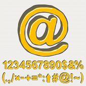 Vector set - alphabet elements