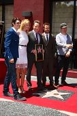LOS ANGELES - JUL 16:  RJ Mitte, Anna Gunn, Bryan Cranston, Aaron Paul, Producer at the Hollywood Wa