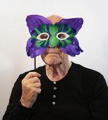 Senior In Mask