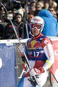 KITZBUHEL TIROL, AUSTRIA - JAN 24 2009; Kitzbuhel Tirol Austria, Didier Defago (SUI) competing in th