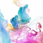 stock photo of pigments  - Acrylic colors in water - JPG