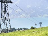 An image of the cable railway at Beatenberg Switzerland