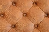 Texture Of Brown Vintage Sofa