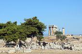 Templo de Apolo em Corinto, na Grécia antiga
