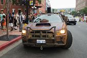 Defiance Law Keeper Dodge Car on San Diego Downtown street