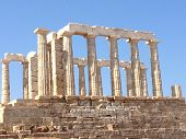 stock photo of poseidon  - The temple of the Greek God - JPG