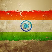 vector grunge style indian flag background