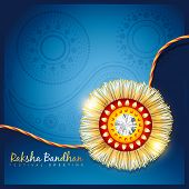 stylish vector hindu rakshabandhan festival background