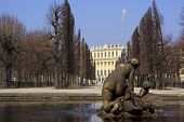 stock photo of schoenbrunn  - Schoenbrunn castle a landmark of Vienna from the time of the Habsburgs - JPG