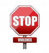 Stop Violence Illustration Design