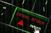 Denial Service Attack  Concept With The Focus On The Return Button Overlaid With Binary Code