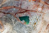 Vertical View Of Open Pit Mining