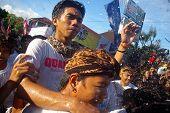 Water Sprayed In Crowd