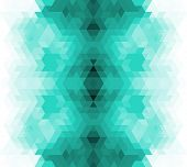 Triangle retro background.