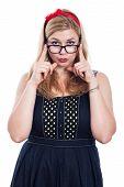 Cute Woman In Eyeglasses