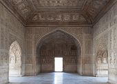 Beautiful Carved Room Inside The Palace At The Red Fort. Delhi, India